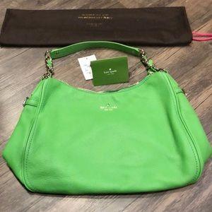 Kate Spade Cobble Hill shamrock green bag